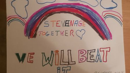 Stevenage residents and families have been showing their love for our key workers. Picture: Graham M