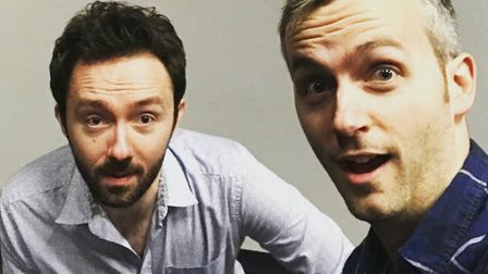 Comedy duo Doggett & Ephgrave. They have launched an appeal to keep their Hitchin Mostly Comedy club