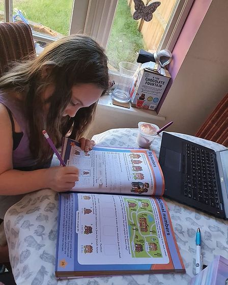 """Mum Claire said she has """"various activities planned throughout the day."""" Picture: Claire Holden"""