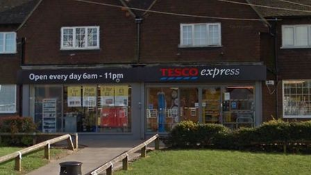 The Tesco Express on Bedford Road was broken into in the early hours this morning. Picture: Google S
