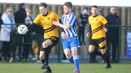 Stotfold V Shefford Town & Campton - Stephen Brooks in action for Stotfold.