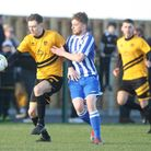Stotfold V Shefford Town & Campton - Stephen Brooks in action for Stotfold. Picture: Karyn Hadd