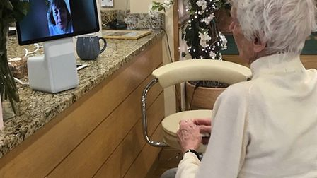Foxholes care home residents have been using Alexa and Facebook to keep in touch with relatives. Pic