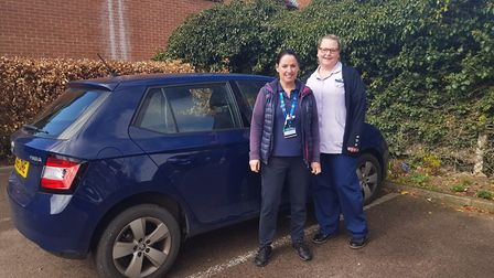 Dawn Tidmarsh, physiotherapist, going out on her first community shift. Picture: GHHC