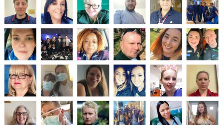 NHS staff, carers and key workers were featured in the Comet to thank them for their hard work. Pict