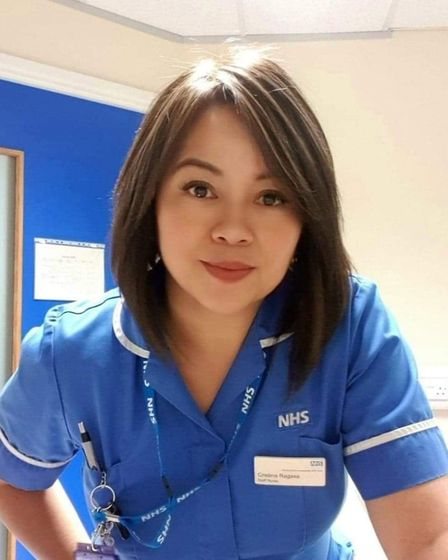 Cristina Ragasa, who works as a nurse at Lister Hospital in Stevenage. Picture: Supplied