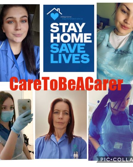 Staff from Destiny Support Care in Stevenage. Picture: Supplied
