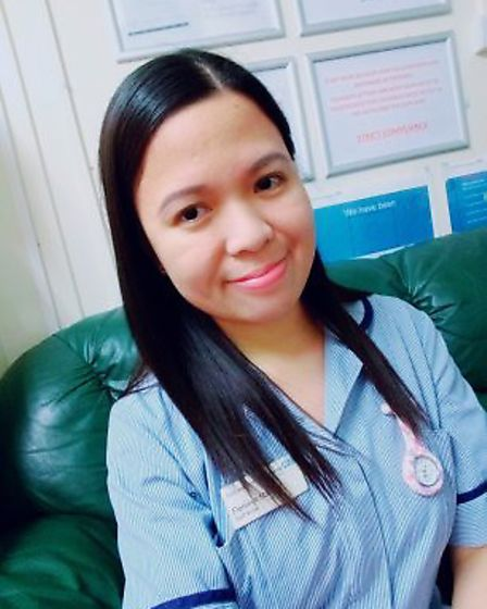 Florence, who works as a nurse at Lister Hospital in Stevenage. Picture: Supplied