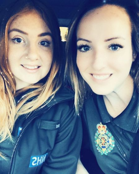 Emergency medical technician Karla Allman and associate ambulance practitioner Kate Neville, who wor