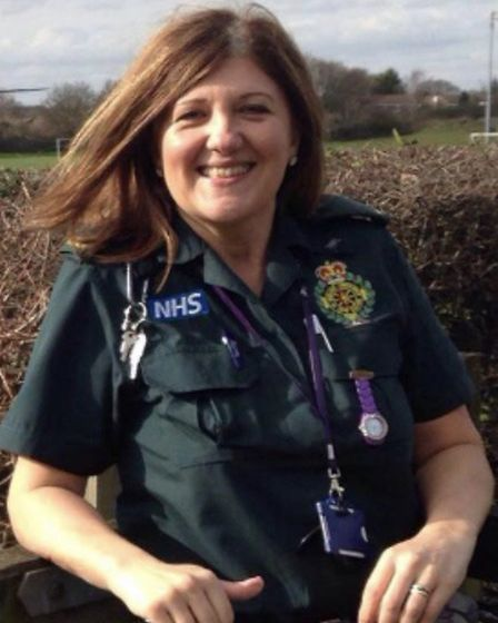 Sharon Spencer, who is a clinical paramedic in Stevenage. Picture: Supplied