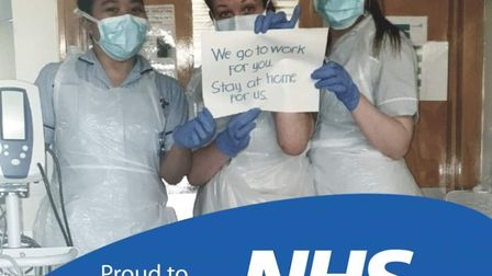 Tina Wise (centre) from Stevenage, with her colleagues at Lister Hospital. Picture: Kirsty Wise