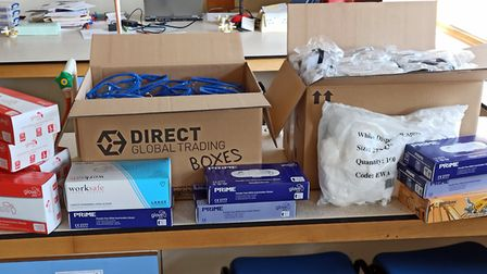 The Science Department at St Francis' College has donated much-needed PPE. Picture: St Francis' Coll