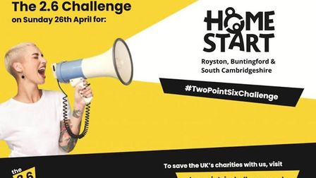 Can you take on the 2.6 Challenge for Home-Start?