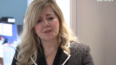 Operations Director Alison Horne talking through tears on ITV news last month. Picture: ITV