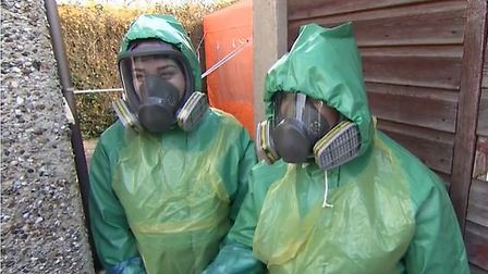 Care By Us workers giving home visits in full PPE - as shown on ITV. Picture ITV