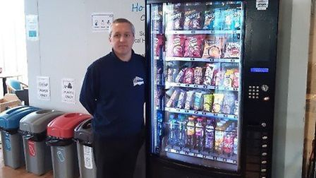 Care Vending Services engineer Dameon Kitchen installed a vending machine at Lister Hospital which p