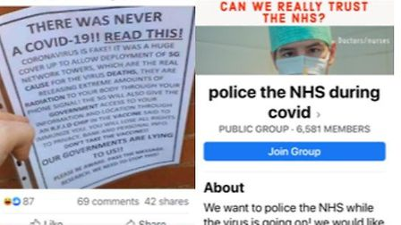 A flyer claiming a coronavirus vaccine will contain a chip allowing the government to track people i