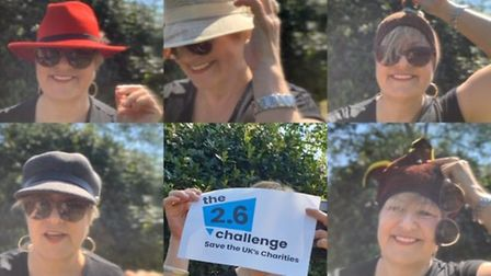 Fiona Gray, President of Rotary Club of Hitchin Tilehouse, doing her 2.6 Challenge. Picture: Fiona G