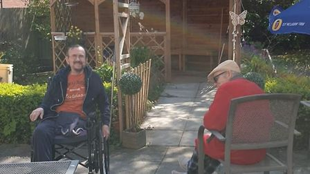 Roebuck resident Mike North (left), will be joining staff on the 145.7 mile cycle. Picture: Roebuck