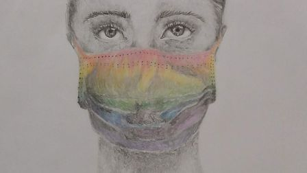 Charli Kelland, 14, who goes to Highfield School and lives in Letchworth, drew this picture to thank