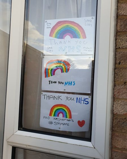 A thank you to the NHS in Coventry Close, Stevenage. Picture: Sarah Smith