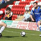 Joel Byrom sets off on his way to goal.