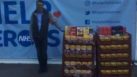 Allied Bakeries in Stevenage delivers trays of Kingsmill loaves to the pop-up supermarket on the Lis