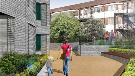 The proposed view looking toward Windmill Hill in the town. Picture: Scoot Studio