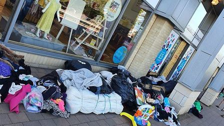People have been leaving donations outside the Cancer Research UK shop on Stevenage's Oaklands Retai