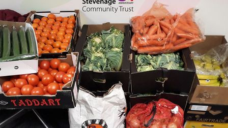 Stevenage Community Trust has been providing fresh fruit and veg to those in need. Picture: Stevenag