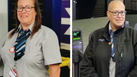 Debbie Davies has worked at Stevenage train station for Great Northern for the last six years. Pictu