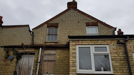 Number 61 (R) and 62 (L) are attached properties. Mimmo fears his house could be damaged if No. 62 i