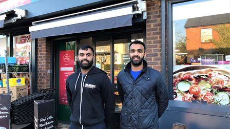 Rishi and Sanjay Chandarana at Walkern Budgens. Picture: supplied by Helen Froggett- Thomson