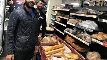 Sanjay and Rishi Chandarana from Walkern Budgens. Picture: supplied by Helen Froggett- Thomson
