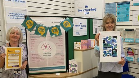 The Health@Work team have been offering mental health support and advice at Lister Hospital. Picture