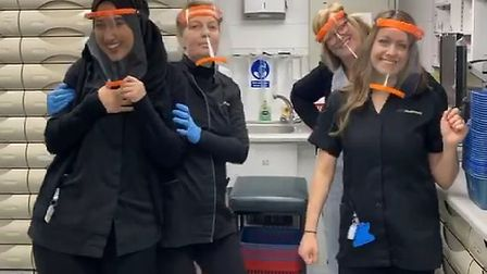 Paul's daughter Kirsty (front, right) works as a local chemist. Picture: Paul Moran