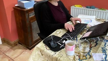 Rosie Waters, chief executive at Citizens Advice North Herts, has been working from home. Picture: C