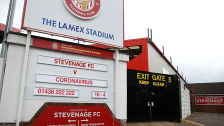 League Two clubs want no relegation this season, a move which would save Stevenage. Picture: ADAM DA