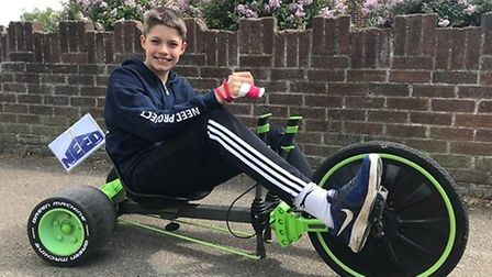 Jacob Backhouse has raised £900 so far for The Need Project in Stotfold by taking on a marathon dist
