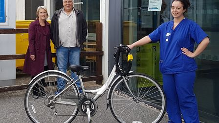 David and Kim Rogers, from Stevenage, donated two bikes to NHS workers. Picture: Herts police