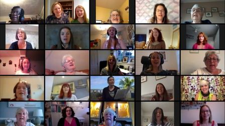 Members of Stevenage Ladies' Choir recorded the track in isolation, determined to mark the choir's 6