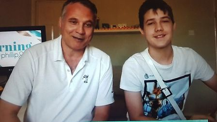 Lee (L) and George (R) Redmond from Stevenage appeared on ITV's This Morning last week. Picture: ITV
