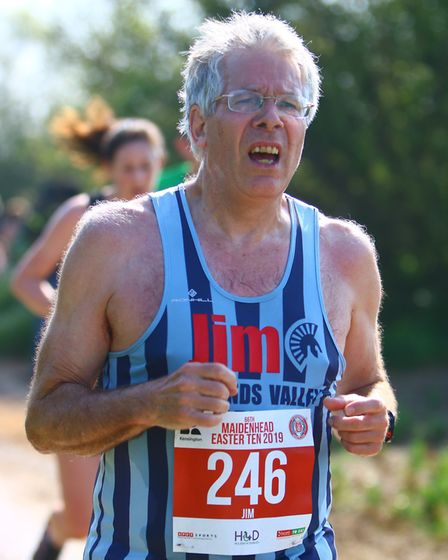 Jim Brown pictured at the Maidenhead 10k. Picture: Frankie Snell
