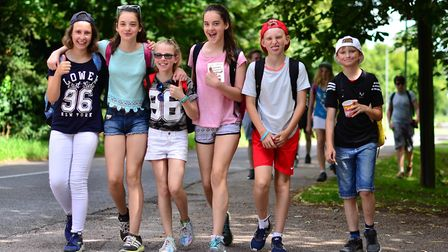 Previous Knights Templar pupils taking part in their annual Greenway Challenge. Picture: KTS