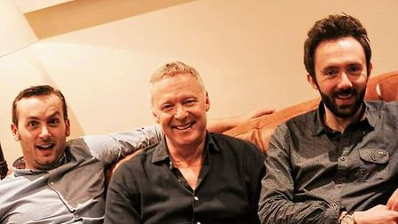 Glyn Doggett, Rory Bremner and David Ephgrave at Hitchin Mostly Comedy. Picture: Gemma Poole.