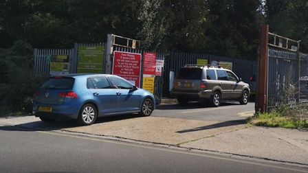 The recycling centre on Blackhorse Road has been temporarily closed for the second day running. Pict