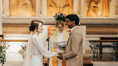 Jann Tipping and Annalan Navaratnam married in the chapel at St Thomas' Hospital, London, after they