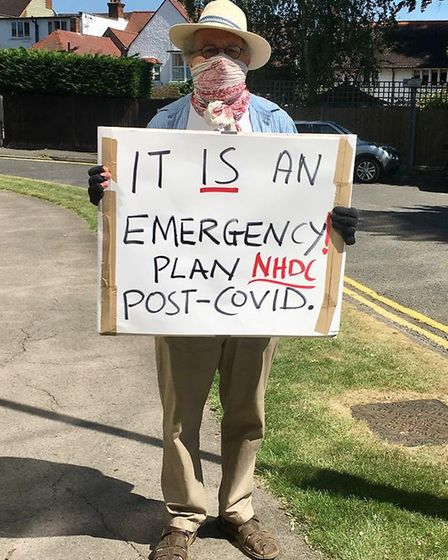Extinction Rebellion North Herts campaigned in Letchworth on Saturday. Picture: XRNH