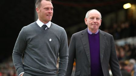 Lennie Lawrence (right) has moved from Newport County to Stevenage to become Alex Revell's manageria