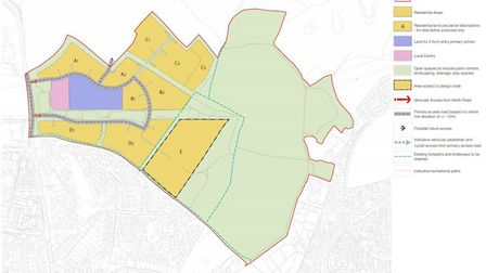 The plans include 800 new homes and a two-form entry primary school. Picture: Savills
